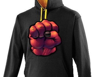Clear Casual Fist Hoodie