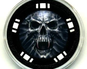 Screaming Skull poker chip card guard - card protector