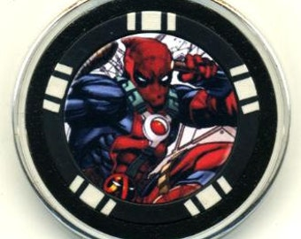 Deadpool poker chip card guard - card protector