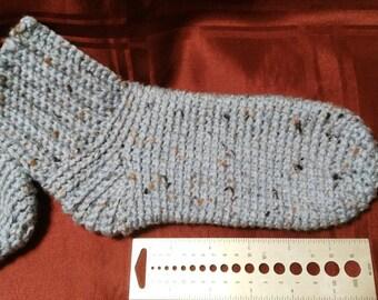 Homemade crochet socks
