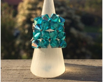 Oceanic Swarovski Crystal Ring