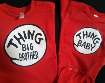 THING Big Brother, Little Sister, T shirt CUSTOM too