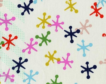 Jacks in Natural Multi, Playful - 1/2 Yard - Melody Miller for Cotton and Steel