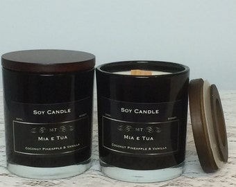Soy Candle, Coconut, Pineapple & Vanilla