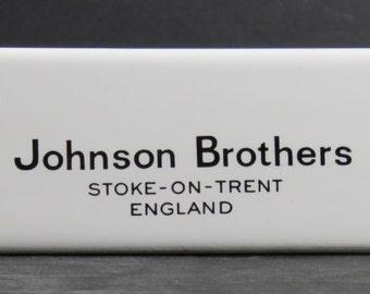 Johnson Brothers Stoke-on-Trent Porcelain Shelf Dealer Display Sign Advertising Reduced