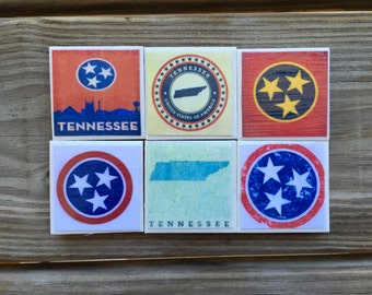 Tennessee Tristar Magnets (Set of 6)