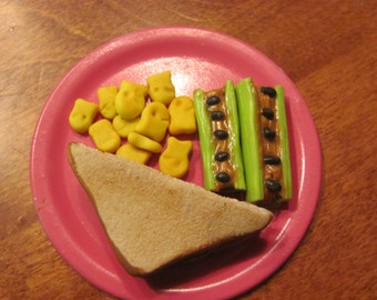 PB&J Lunch Platter for 18 inch/American Girl dolls