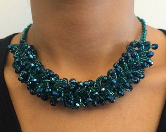 Crystal Fancy Statement Necklace