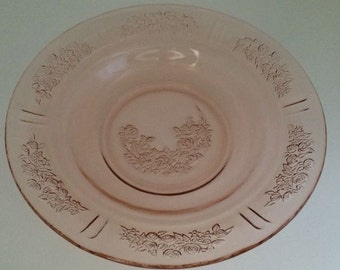Rimmed Soup Bowl in Sharon Cabbage Rose