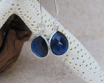Midnight Blue Topaz Sterling Silver Earrings