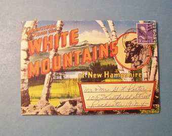 Vintage WHITE MOUNTAINS New Hampshire Postcard Souvenir Book