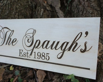 Personalized family plaque engraved