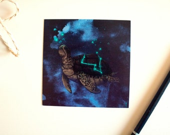 Postcard Constellation Star turtle