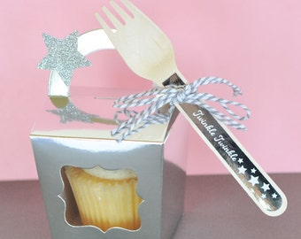Personalized Dessert Bar/Candy Buffet Wooden Utensils (set of 24)