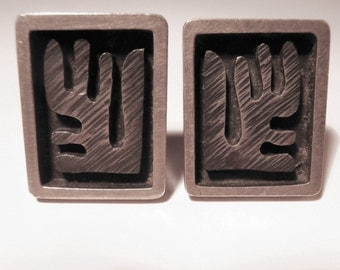 Esther Lewittes Vintage Cuff Links - 1950s Sterling