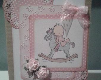 Handmade Newborn Baby Card