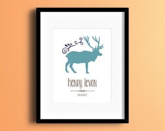 Custom Personalized Elk Print