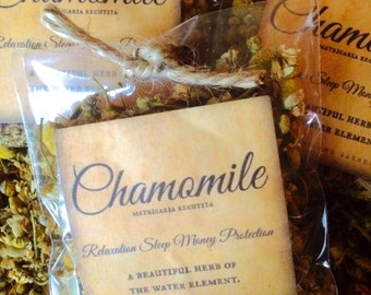Chamomile, Organic Chamomile, Dried Loose Herb, Magic, Magical Apothecary Herbs, herbal