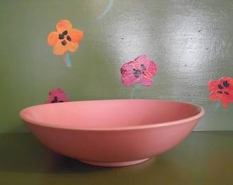 Pink Ceramic Serving Bowl Modern Kitchen Home Decor Vintage Fruit Planter Mid Century Modern Retro