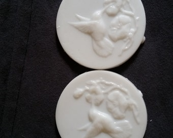 Decorative Hummingbird Soap, Shea Butter Soap, Guest Soap, White Tea & Ginger