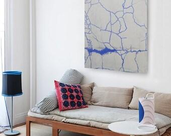Blue Lines (100 x 150)