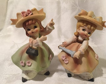 Reduced Price Norcrest vintage set of two girls