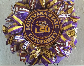 LSU Tigers Collegiate Mesh Wreath