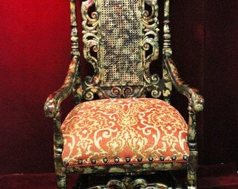 Antique  Cain Back   Chair Filigree