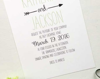 Modern Wedding Invitation Printable Invitation