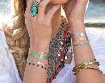 Jewelry Tattoo Lab Arabesque. Metallic Jewelry Tattoos Luxury. Designed in Paris. Short-lived tattoo gold