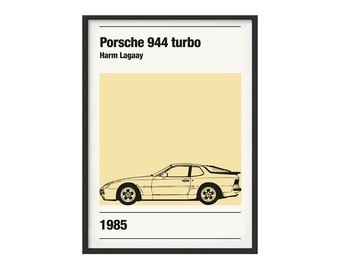 Porsche 944 individuals subject graphic poster