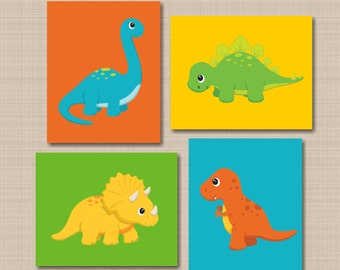 Dinosaur Decor,Dinosaur Nursery Wall Art,Dinosaur Wall Art,Dinosaur  Bathroom Wall Art