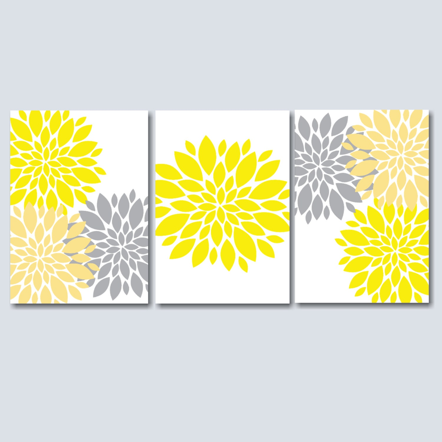 yellow grey bedroom wall art yellow grey floral wall art. Black Bedroom Furniture Sets. Home Design Ideas