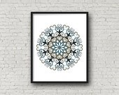 Printable Art Download - Downloadable Digital Art - Filigree Wall Art - Filigree Art Wall Decor - Mandala Art - Spiritual Decor - PRFIL-1