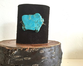 Turquoise Suede Cuff