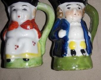 Miniature Toby Pitcher Couple