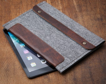 Grey Felt Kobo Glo Case. Sleeve for Kobo Mini. Cover for Kobo Touch, Kobo Glo, Kobo Glo HD case, Kobo Aura H2O case.