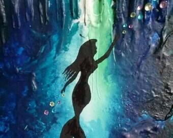 Crayon mermaid art