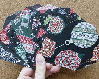 Set of 5 Christmas // Gift Card Holders // Mini Envelopes // Gift Card Envelopes
