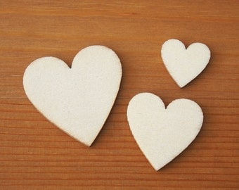 Unfinished Wood Heart Cutouts 20mm– 40mm Plain Wood Pieces Fun Art Craft Painting Embellishing Stamping Papering Scrapbooking Love DIY