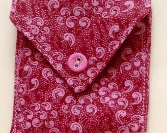 pink paisleys coin pocket, Paisleys coin pocket, Victorian print coin pocket, upcycled coin pocket, coin pocket, Victorian coin purse