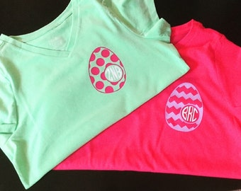 Monogrammed Easter Egg T-Shirt