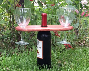 Wood Simple Wine Caddy-Personalized  Item #43