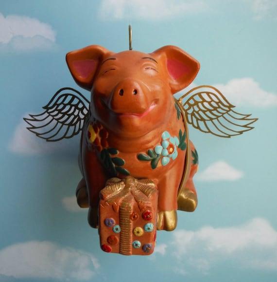 Flying Pig Birthday Pig Up Cycled Piggy Bank