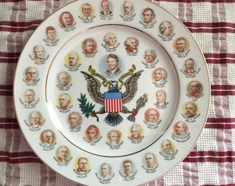 Vintage Presidential Commemorative Plate, Jimmy Carter, 200 Years of Presidents