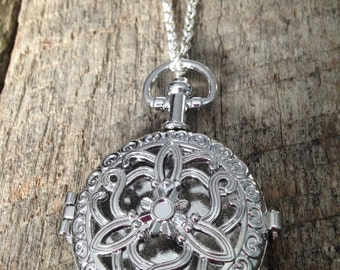 Silver or Gold Medallion necklace / silver gold gold locket