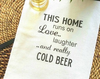 Bar Towel, Kitchen Towel, Beer, Dish Towel, Tea Towel, Kitchen Towels with sayings, Flour sack towel, Housewarming gift, Cotton Towel