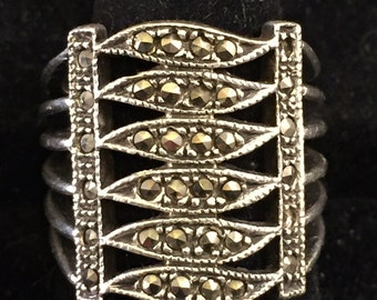 Vintage Marcasite Wrap Ring
