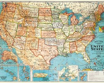 Cavallini USA Map Paper