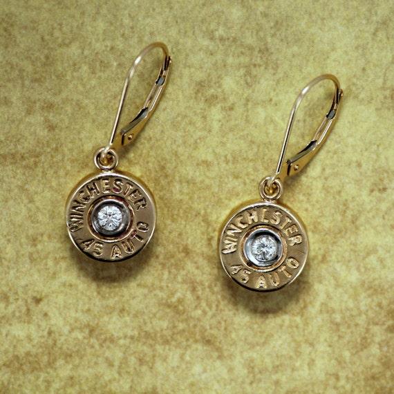 bullet jewelry dangle earrings winchester 174 by